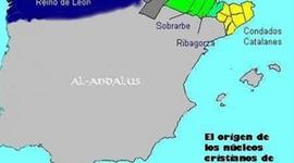 Los territorios cristianos en los pirineos  { VIII-XII }  ( Rosa ) timeline