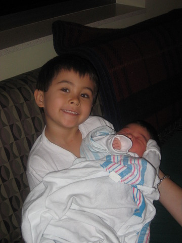 My little sister being born