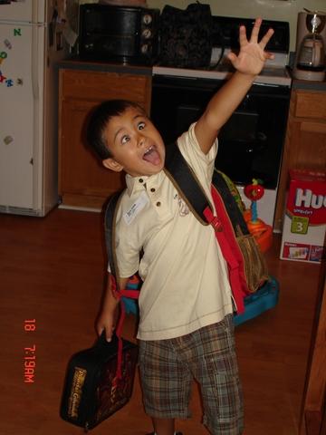 Bryce's 1st day of Kindergarten