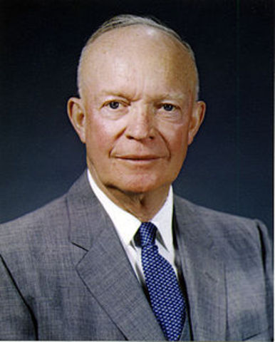 Dwight D. Eisenhower is elected president