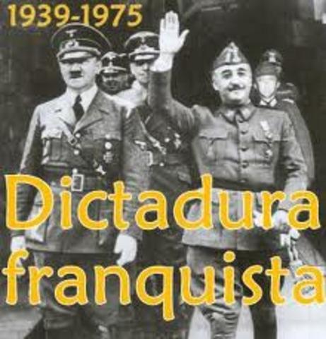 Comienza la Dictadura Franquista