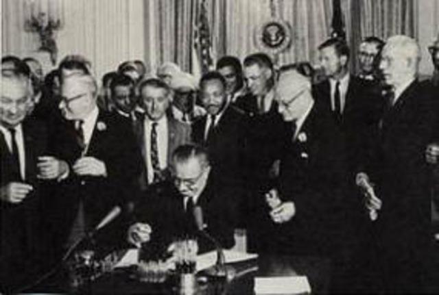 President Lyndon Johnson Signs the Civil Rights Act