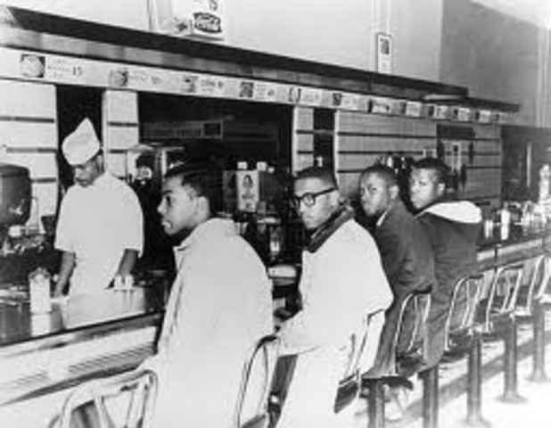 Sit-in at Segregated Woolworth's Lunch Counter