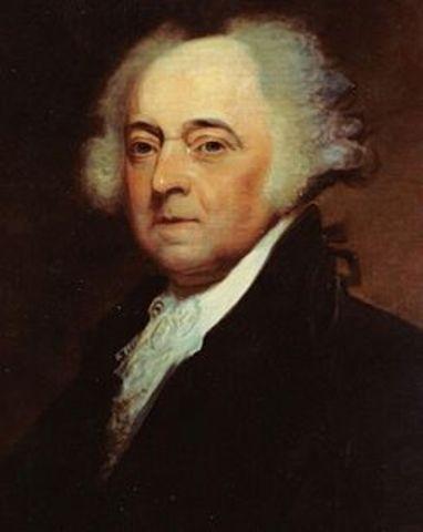 John Adams elected President.