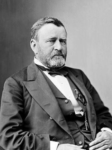 Ulysses S. Grant elected President.