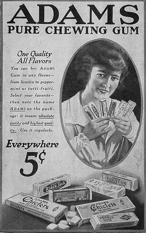 Image result for the first chewing gum