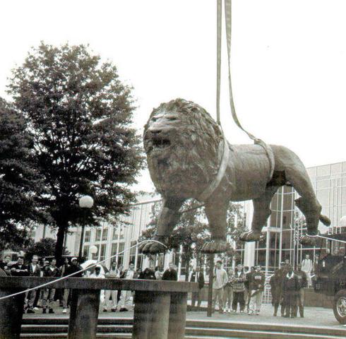 Old Dominion University Mascot/Fountain Installation
