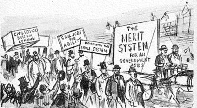 the spoils system in the us politics history Was under merit provisions (us house, 1976, p 305) today, well  services  had little to do with the adoption of a merit system  let there be two types of  government employees, patronage workers and those hired under a merit system.