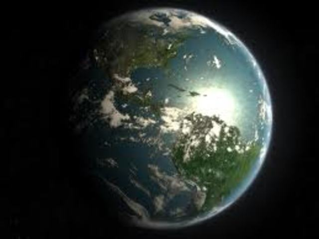2.2 BYA, Earth looks like it does today ( land and oceans )