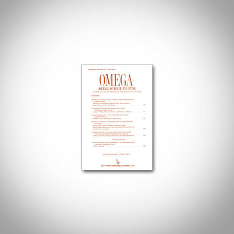 Volume of OMEGA--Journal of Death and Dying