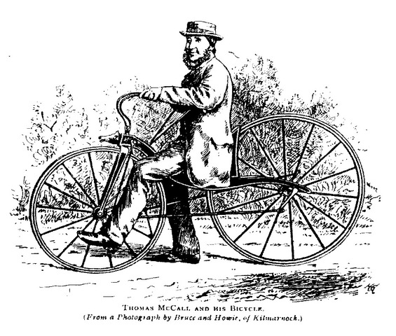 MAN MAKE A PENNY FARTHING IN REVERSE, BEFORE PENNY FARTHING WAS A THING