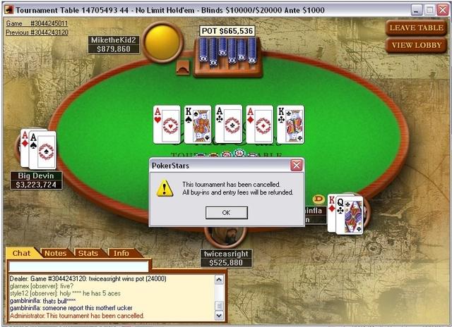 Primera partida de Poker