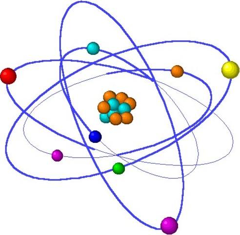 """100 d.C. Lucrecio escribe """"De rerum natura"""" donde explica el concepto de átomo"""
