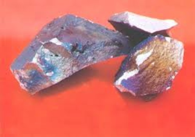 1803. Andrés del Río descubre el vanadio en Nueva España no se le reconoce hasta mediados de los 30's del siglo XIX (segundo elemento químico descubierto en el Continente Americano)