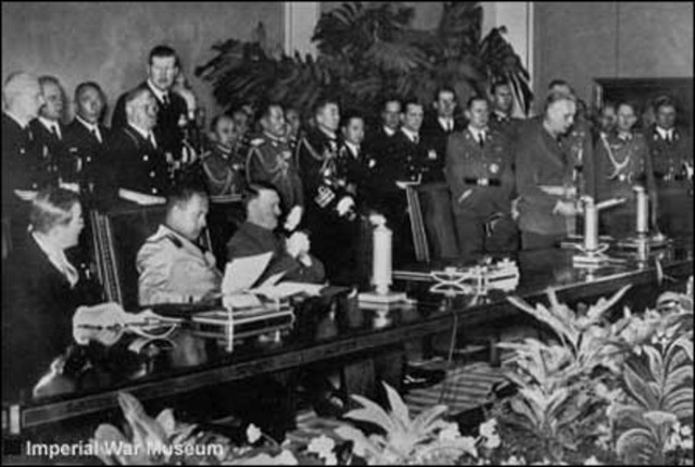 Tripartite (Axis) Pact signed by Germany, Italy and Japan