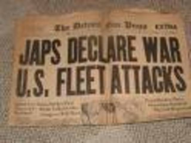US and Britain declare war on Japan