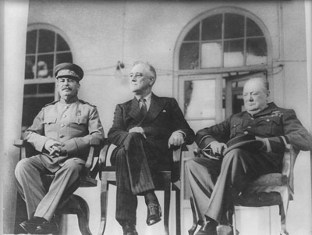Casablanca conference between Churchill and Roosevelt