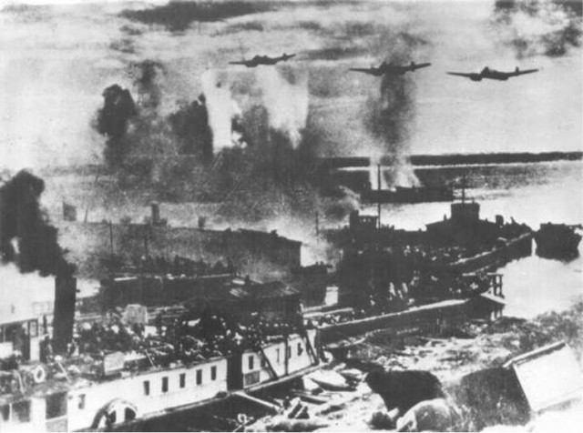 German air raid on Stalingrad.