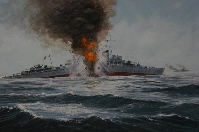 Battle of the Barents Sea between German and British ships