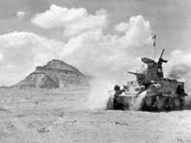 Italy invades Egypt, begining of North African Campaign