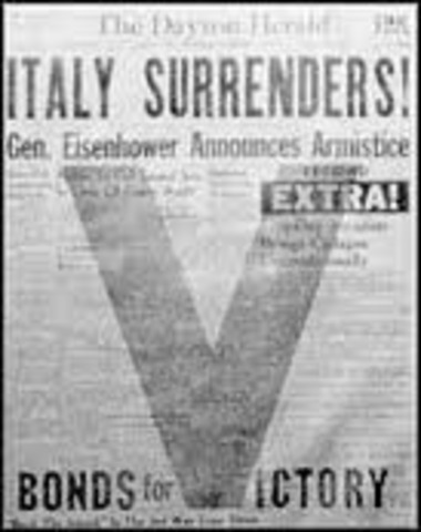 Italy's Surrender Announced