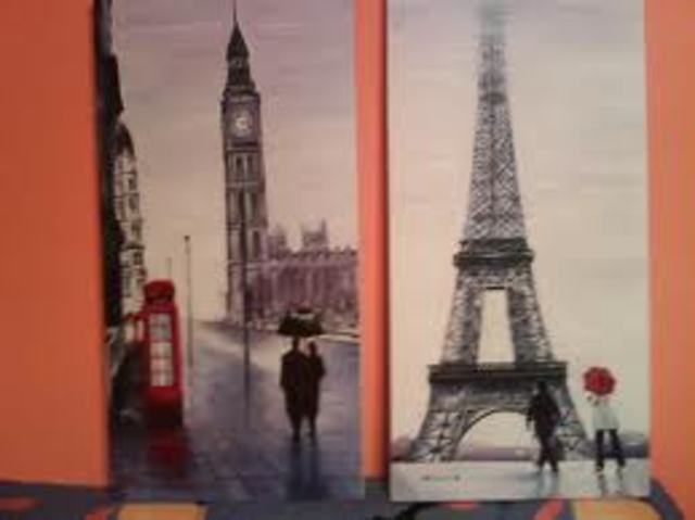 Inició una gira por París y Londres.