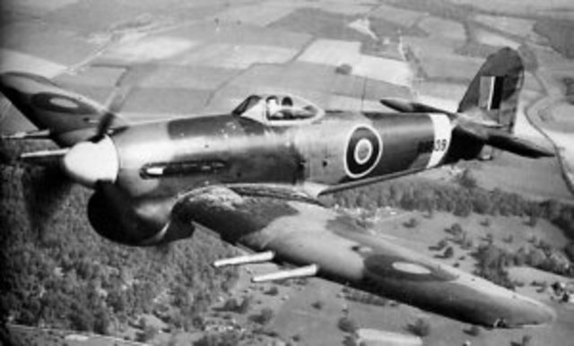 The first British Hawker Typhoon fighter enters service