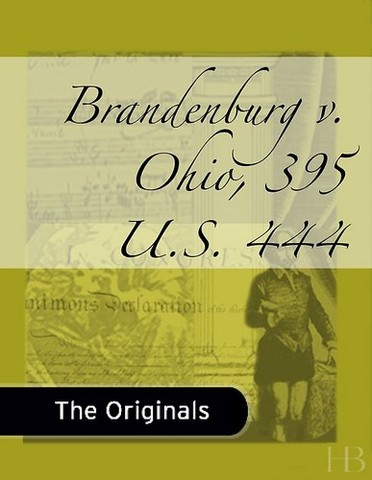 Brandenburg v. Ohio - Press