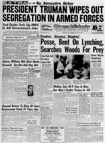 Truman's Executive Orders, 1948