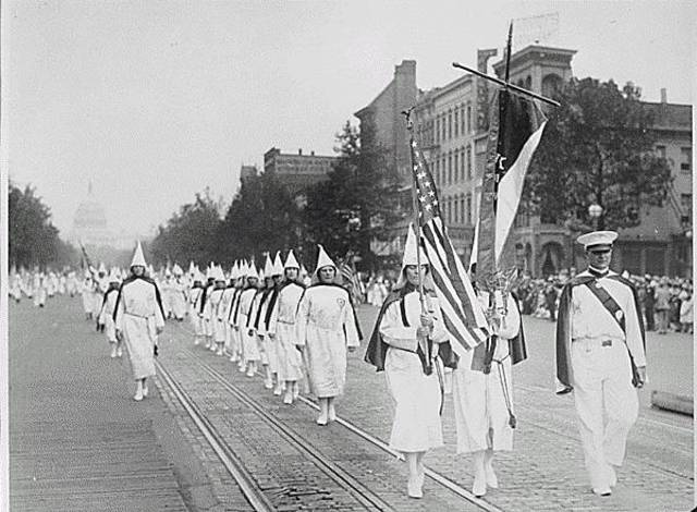 KKK March in Washington DC