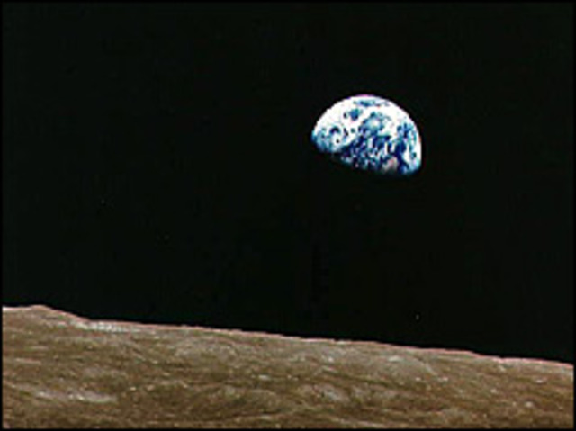 first astronaut orbits the moon