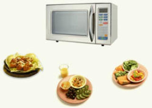 Microondas para cocinar alimentos