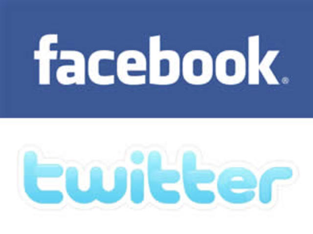 Facebook and Twitter service disrupted