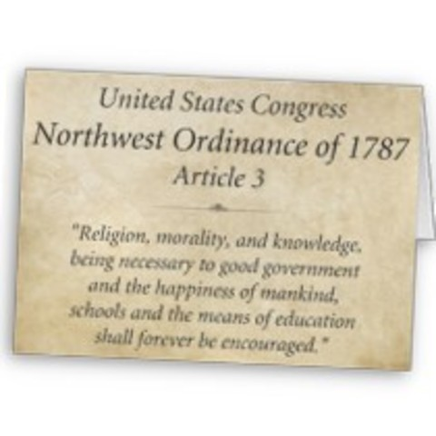 The Nortwest Ordinance adopted by the Continetal Congress