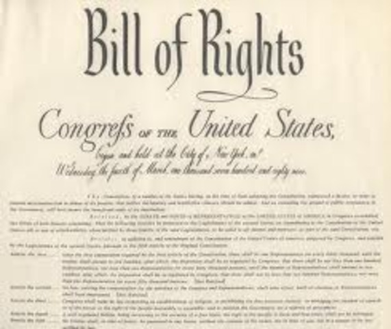 Bill of Rights went into effect