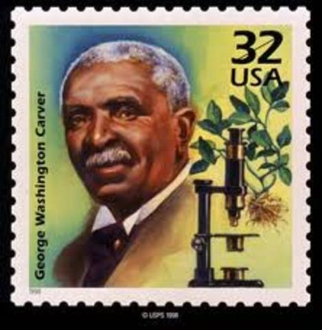Resultado de imagem para George Washington Carver (1864–1943)