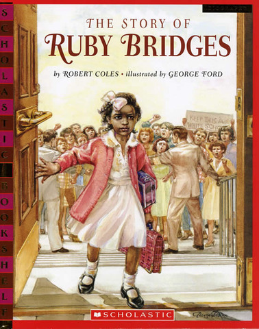 The first day of school of Ruby Bridges