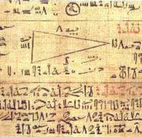 1650 a.C El papiro de Ahmes