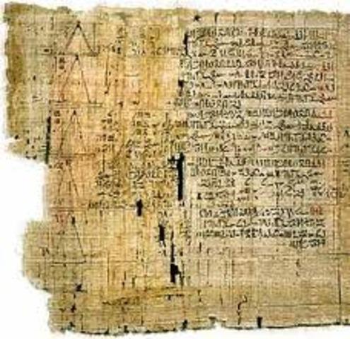 1650 a.C: Papiro de Ahmes