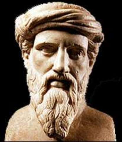 Pitágoras, filósofo griego, cuyas doctrinas influyeron en Platón.