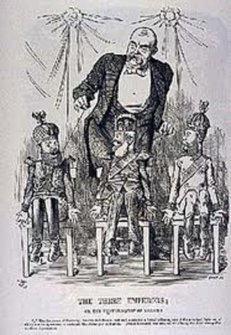 """Formación de la """"Liga de los Tres Emperadores"""""""