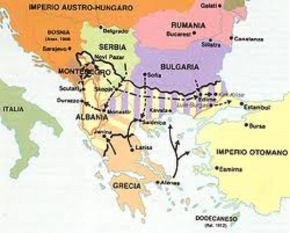 Se inicia la I GUerra Balcánica
