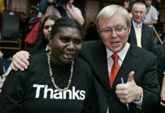 Kevin Rudd apologising for the stolen generation