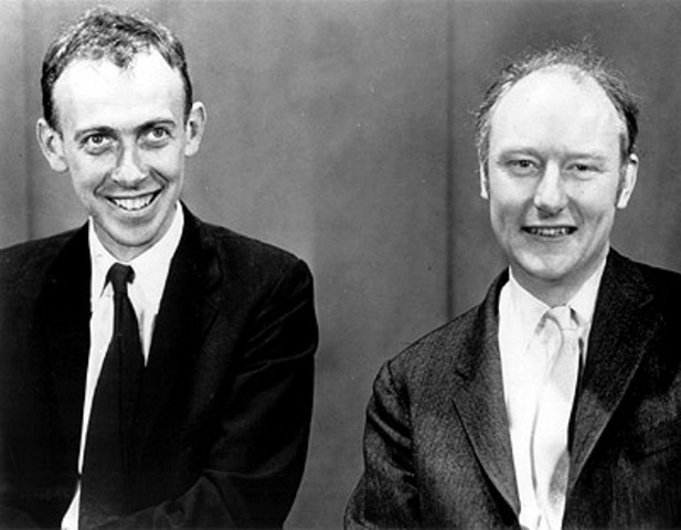 James Watson and Francis Crick discover double helix
