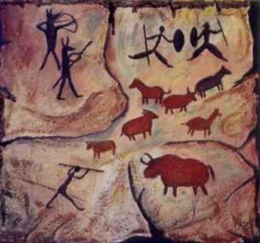 dibujo en la prehistoria 25000-3000 a.c