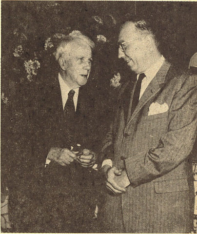 Robert Frost visits Lake Forest Academy