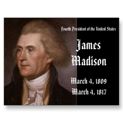 James madison gets inaugurated as the 4th president