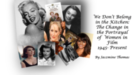 The change in the Portrayal of women in Film  timeline