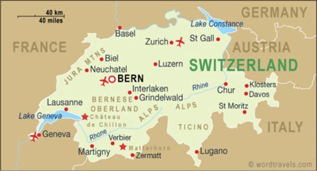 Switzerland became independent of France
