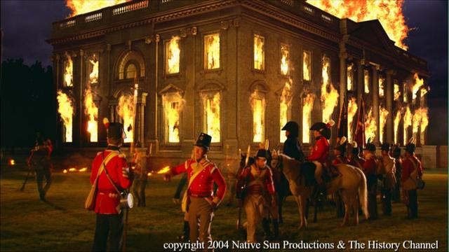 the white house was burned by the British